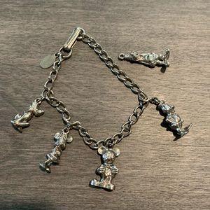 Disney vintage charm bracelet